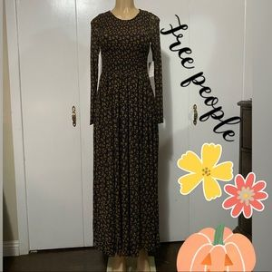 Free people sheer Maxi dress